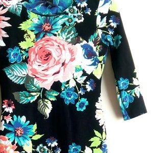 🔥H&M Neon Floral Bodycon Mini Dress🔥